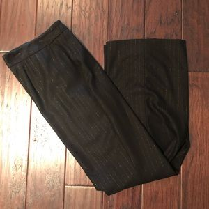 NWT Talbots Metallic Pinstripe Black Slacks, 22W